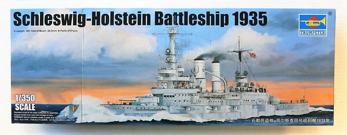 TRUMPETER 1/350 05354 SCHLESWIG-HOLSTEIN BATTLESHIP 1935