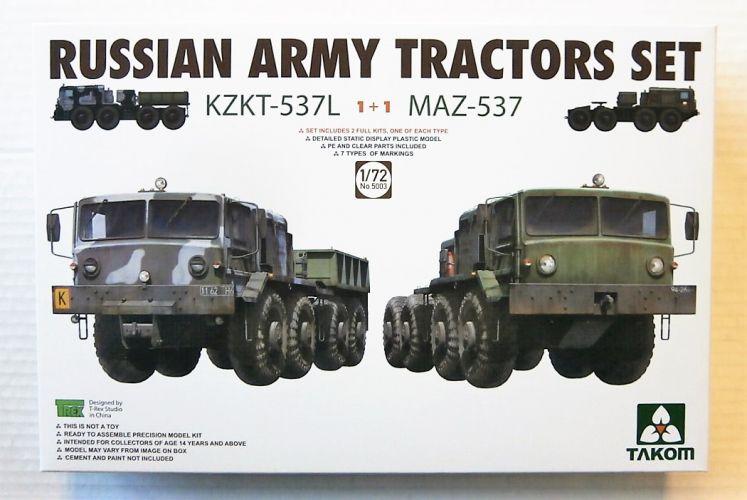 TAKOM 1/72 5003 RUSSIAN ARMY TRACTORS SET KZKT-537L   MAZ-537