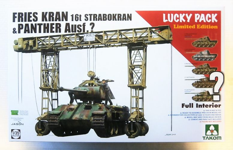 TAKOM 1/35 2108 FRIES KRAN 16t STRABOKRAN   PANTHER AUSF.  LUCKY PACK  UK SALE ONLY