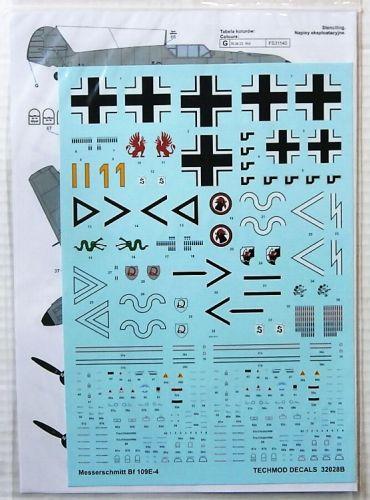 TECHMOD 1/32 2121. 32028 MESSERSCHMITT Bf-109E-4