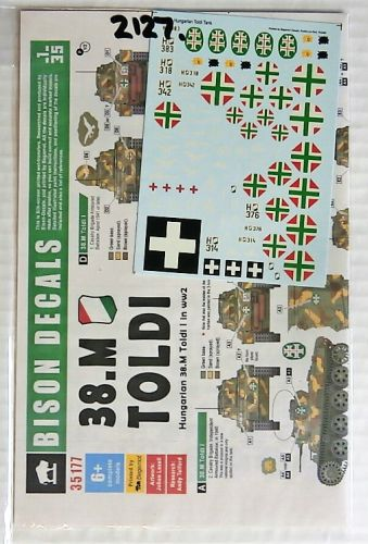 BISON DECALS 1/35 2127. 35177 HUNGARIAN 38.M TOLDI I IN WW2