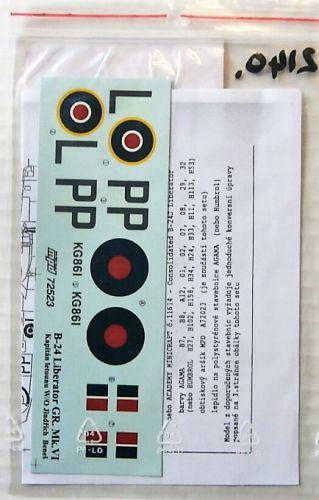 1/72 2140. MINI PRINT DECALS 72523 B-24 LIBERATOR GR. Mk. VI