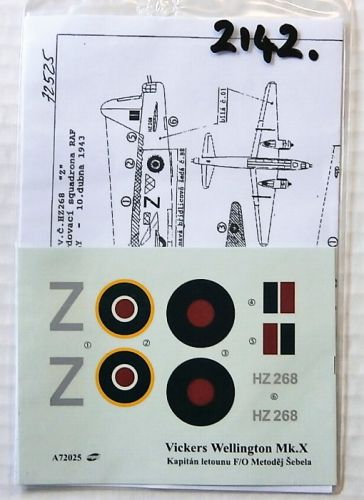 1/72 2142. MINI PRINT DECALS 72025 VICKERS WELLINGTON Mk.X
