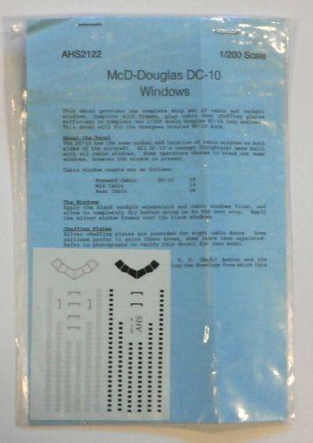 DISCOUNT DECALS 1/200 1772. AHS 2122 McD-DOUGLAS DC-10 WINDOWS