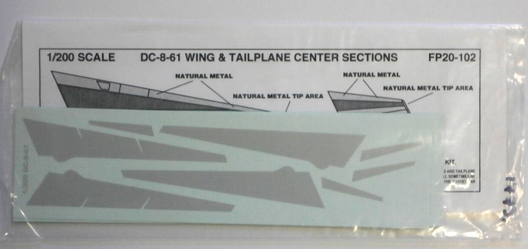FLIGHTPATH 1/200 1773. 20102 DC-8-61 WING   TAILPLANE CENTER SECTIONS