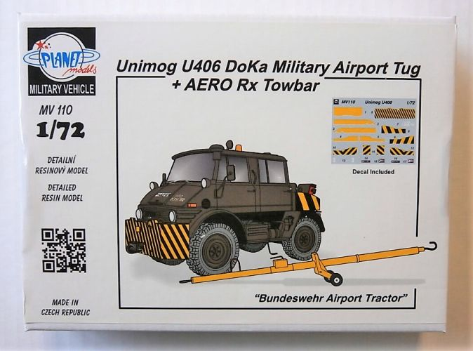 PLANET MODELS 1/72 MV110 UNIMOG U406 DOKA MILITARY AIRPORT TUG   AERO RX TOWBAR