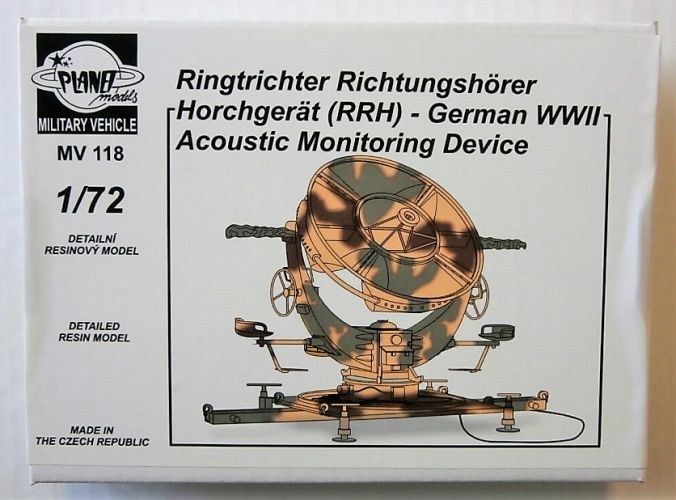 PLANET MODELS 1/72 MV118 RINGTRICHTER RICHTUNGSHORER  RRH  - WWII GERMAN ACOUSTIC MONITORING DEVICE
