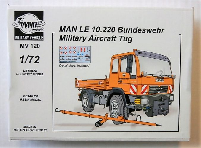 PLANET MODELS 1/72 MV120 MAN LE 10.220 BUNDESWEHR MILITARY AIRCRAFT TUG