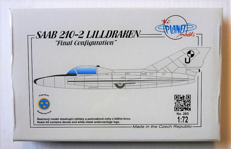 PLANET MODELS 1/72 265 SAAB 210-2 LILLDRAKEN FINAL CONFIGURATION
