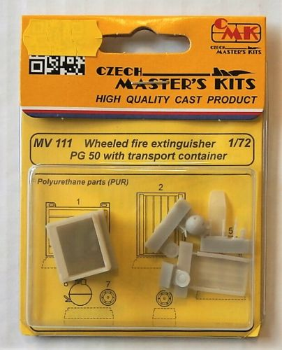 CMK 1/72 MV111 WHEELED FIRE EXTINGUISHER PG 50 WITH TRANSPORT CONTAINER