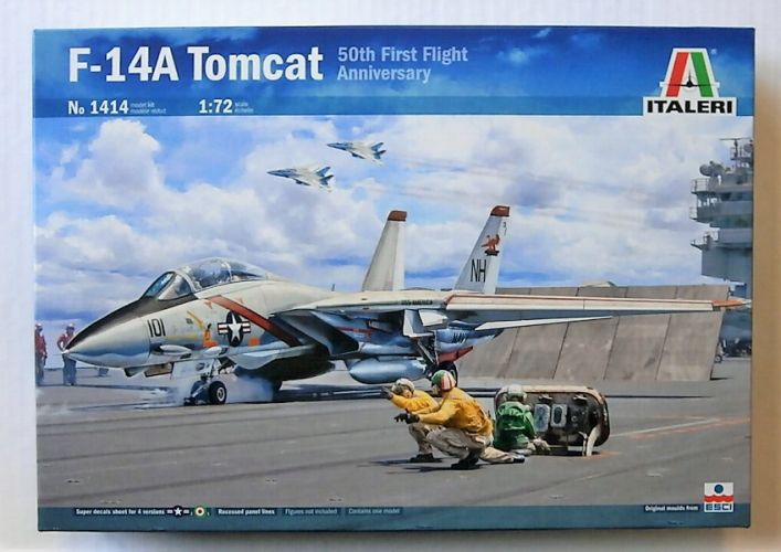 ITALERI 1/72 1414 F-14A TOMCAT 50TH FIRST FLIGHT ANNIVERSARY