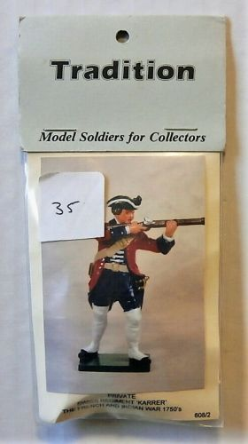 TRADITION MODELS 54mm 608/2 PRIVATE SISS REGIMENT KARRER - THE FRENCH   INDIAN WAR 1750s