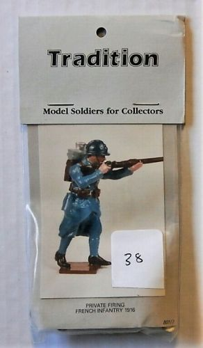 TRADITION MODELS 54mm 801/7 PRIVATE FIRING -  FRENCH INFANTRY 1916