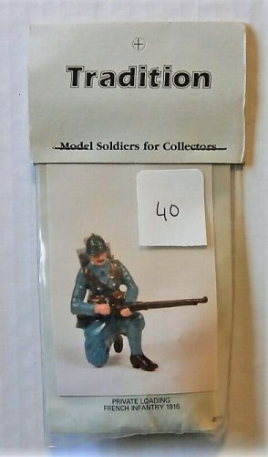 TRADITION MODELS 54mm 801/6 PRIVATE LOADING FRENCH INFANTRY 1916