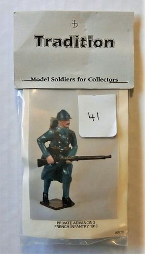 TRADITION MODELS 54mm 801/5 PRIVATE ADVANCING FRENCH INFANTRY 1916
