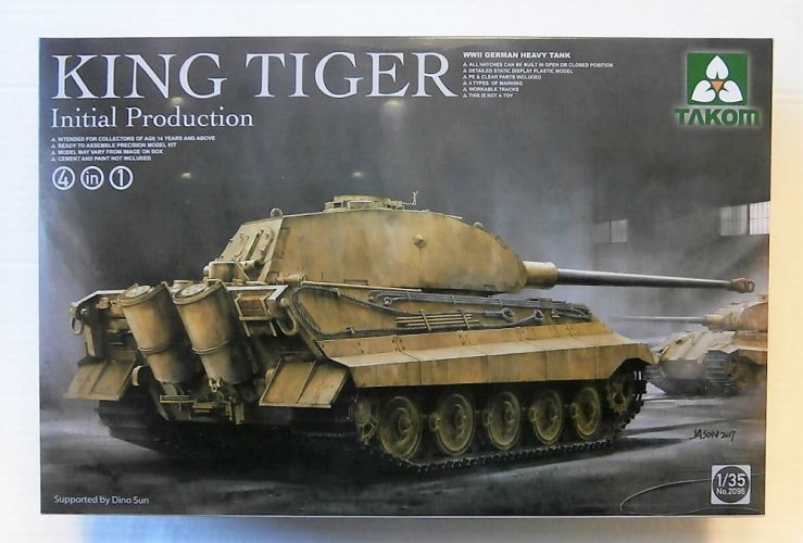 TAKOM 1/35 2096 WWII GERMAN HEAVY TANK KING TIGER INITIAL PRODUCTION 4 IN 1