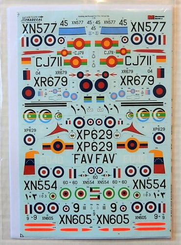 XTRADECAL 1/72 72291 HUNTING JET PROVOST T3/T4/T51/T52