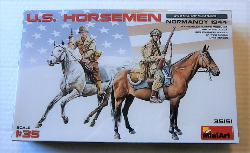 MINIART 1/35 35151 US HORSEMEN NORMANDY 1944