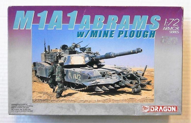 DRAGON 1/72 7213 M1A1 ABRAMS w/MINE PLOW