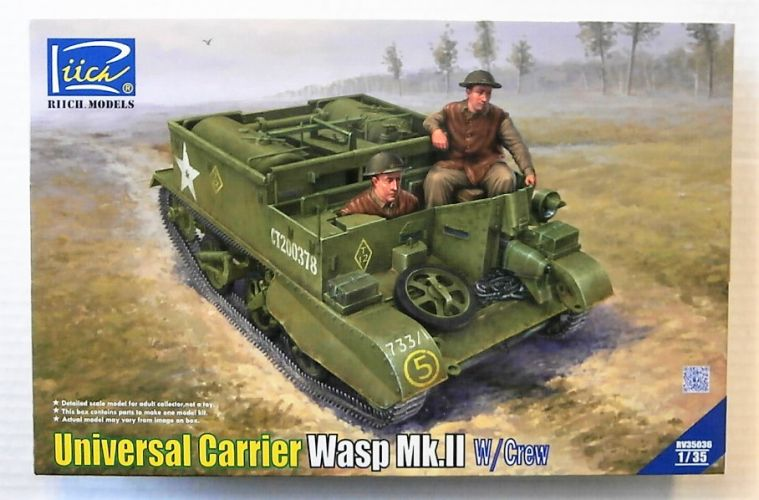 RIICH 1/35 35036 UNIVERSAL CARRIER WASP MK.II WITH CREW