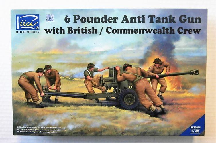RIICH 1/35 35044 6 POUNDER ANTI-TANK GUN WITH BRITISH/COMMONWEALTH CREW