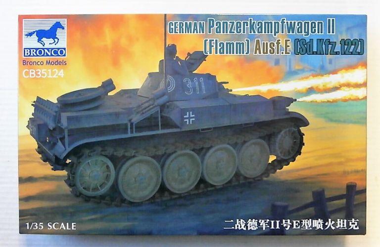 BRONCO 1/35 35124 GERMAN PANZERKAMPFWAGEN II FLAMM AUSF.E