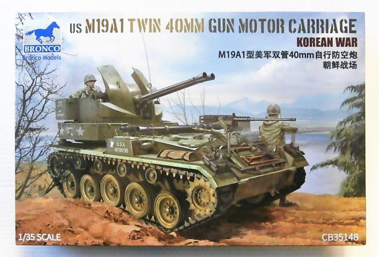 BRONCO 1/35 35148 US M19A1 TWIN 40MM GUN MOTOR CARRIAGE KOREAN WAR
