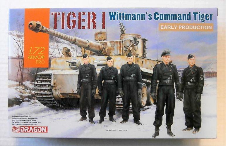 DRAGON 1/72 7575 TIGER I WITTMANS COMMAND TIGER EARLY PRODUCTION