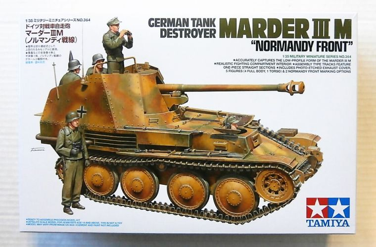 TAMIYA 1/35 35364 GERMAN TANK DESTROYER MARDER III M NORMANDY FRONT