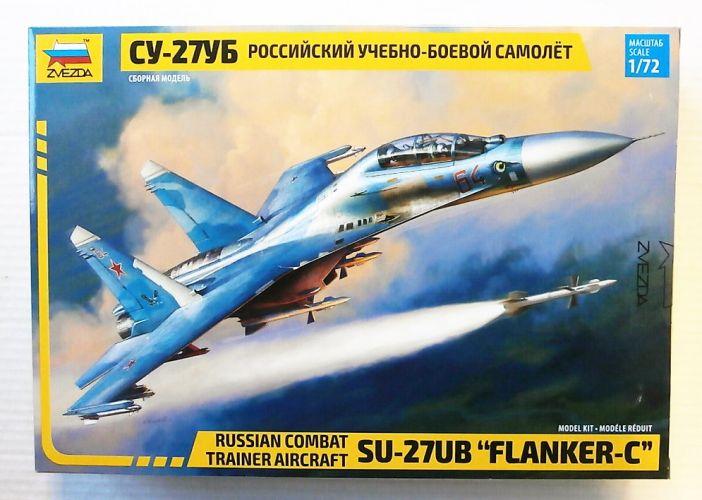 ZVEZDA 1/72 7294 SU-27UB FLANKER-C RUSSIAN COMBAT TRAINER AIRCRAFT