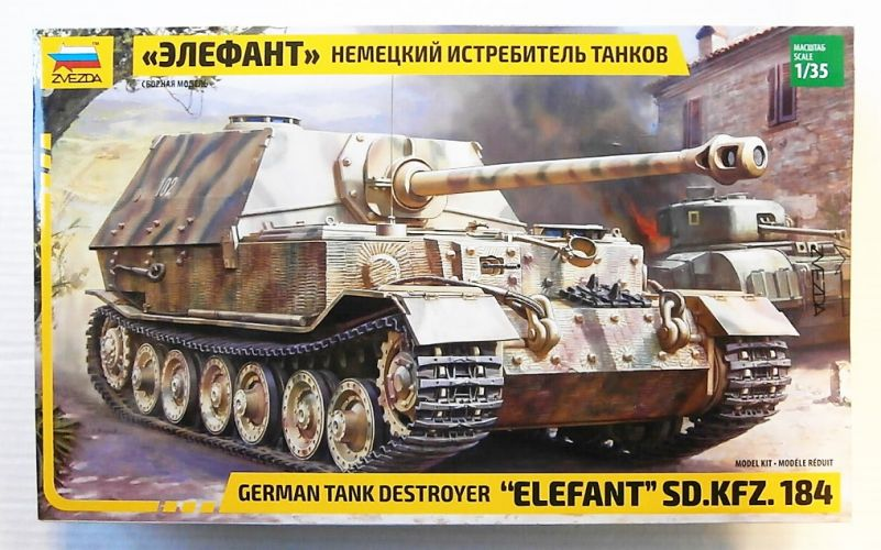 ZVEZDA 1/35 3659 ELEFANT SD.Kfz.184 GERMAN TANK DESTROYER