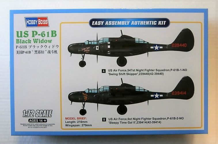 HOBBYBOSS 1/72 87262 US P-61B BLACK WIDOW