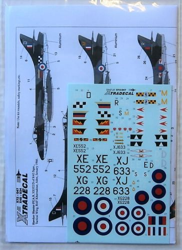 XTRADECAL 1/72 72047 HAWKER HUNTER FGA.9/FR.10