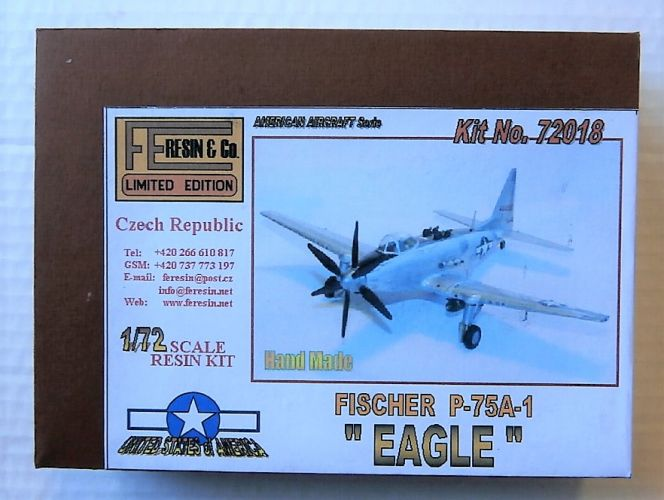FE RESIN 1/72 72018 FISCHER P-75A-1 EAGLE