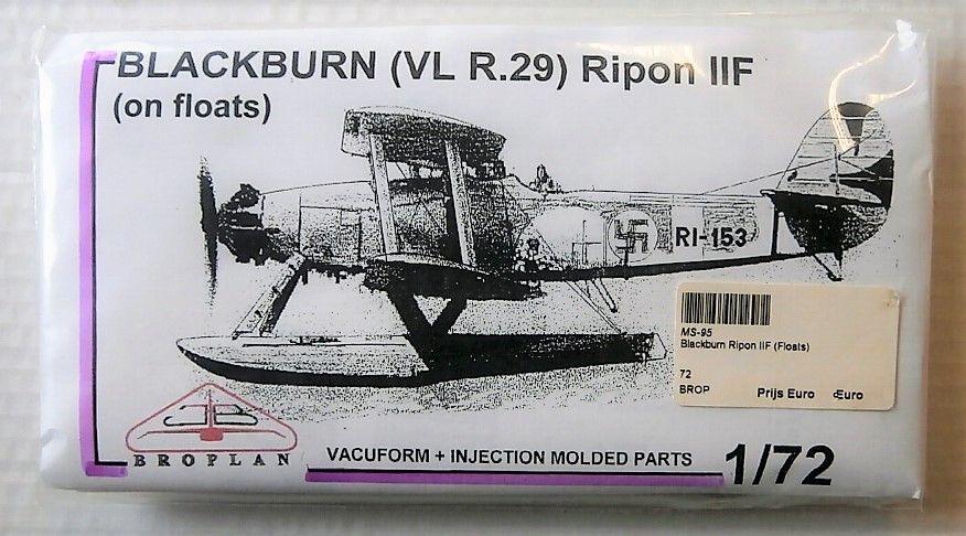 BROPLAN 1/72 BLACKBURN  VL R.29  RIPON IIF ON FLOATS