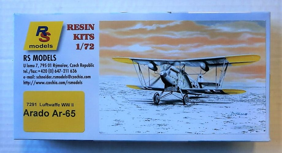 RS MODELS 1/72 7291 ARADO AR-65 LUFTWAFFE WWII