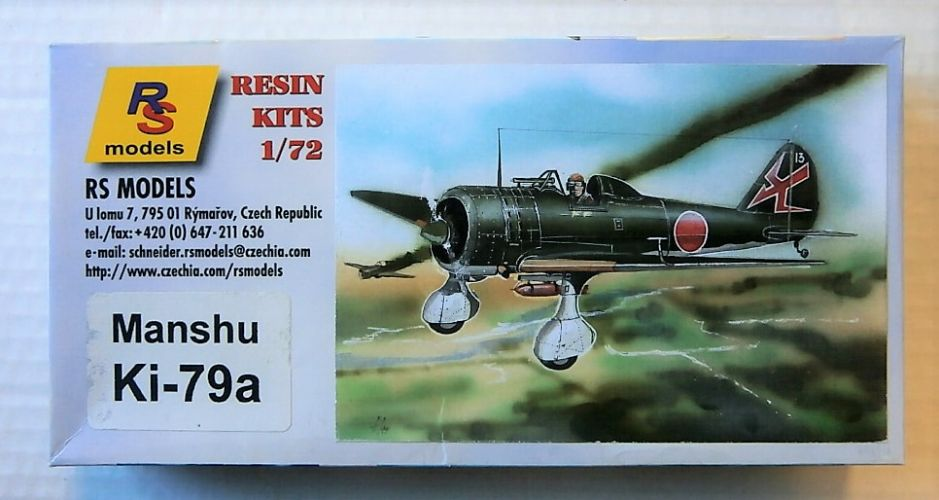 RS MODELS 1/72 7292 MANSHU KI-79A