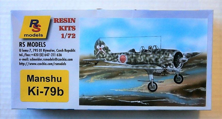RS MODELS 1/72 7293 MANSHU KI-79B
