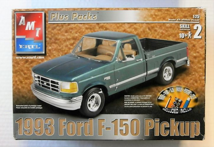 AMT 1/25 31944 1993 FORD F-150 PICKUP - NO PAINTS/GLUE INCLUDED