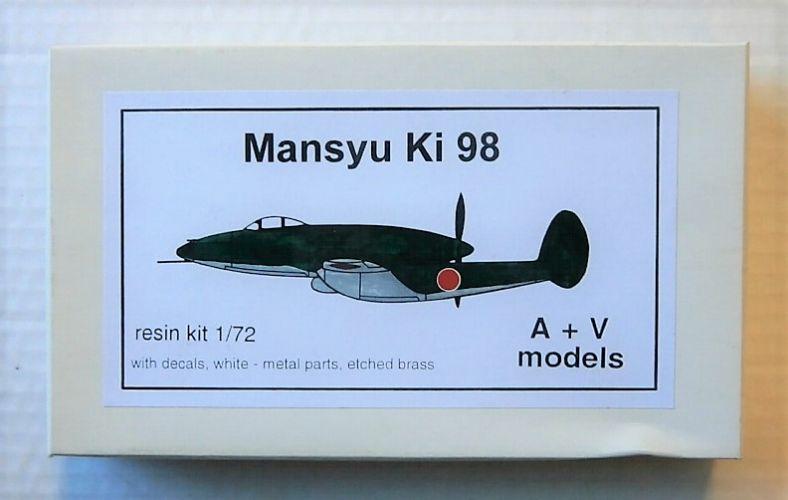 A   V MODELS 1/72 MANSYU KI 98