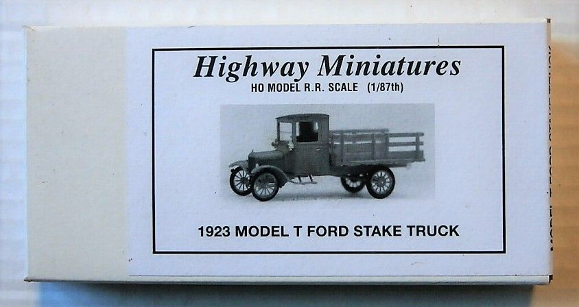 HIGHWAY MINIATURES HO 360-238 1923 MODEL T FORD STAKE TRUCK