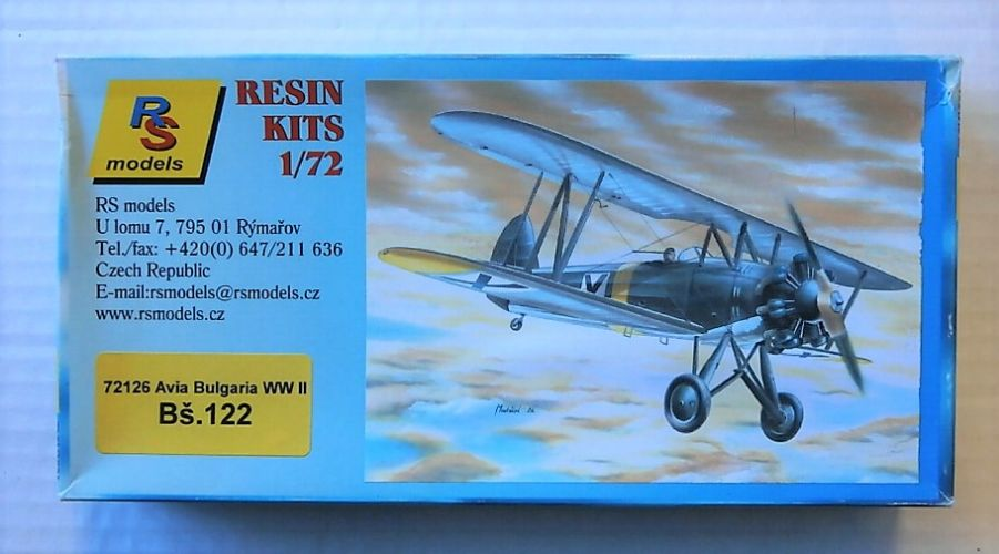 RS MODELS  72126 AVIA BS.122 BULGARIA WWII