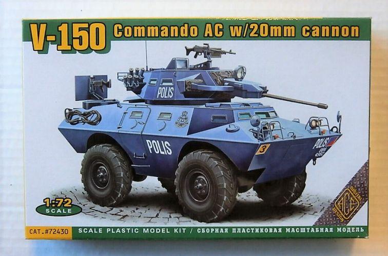 ACE 1/72 72430 V-150 COMMANDO AC w/20mm CANNON
