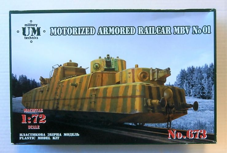 UM-MT 1/72 673 MOTORISED ARMOURED RAILCAR MBV No 1