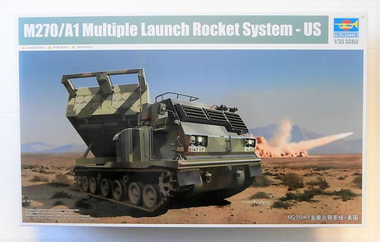 TRUMPETER 1/35 01049 M270/A1 MULTIPLE LAUNCH ROCKET SYSTEM - US