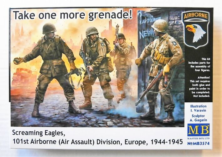 MASTERBOX 1/35 3574 SCREAMING EAGLES 101st AIRBORNE  AIR ASSAULT  DIVISION EUROPE 1944-1945