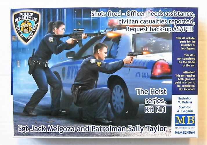 MASTERBOX 1/24 24064 THE HEIST SERIES KIT No1 - SGT JACK MELGOZA AND PATROLMAN SALLY TAYLOR