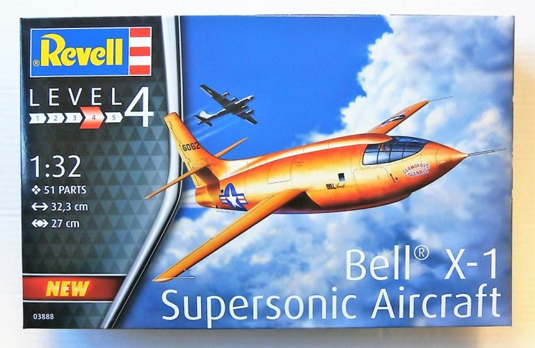 REVELL 1/32 03888 BELL X-1 SUPERSONIC AIRCRAFT
