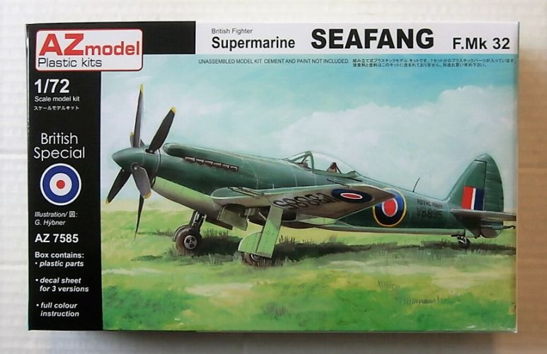 AZ MODEL 1/72 7585 SUPERMARINE SEAFANG F MK32