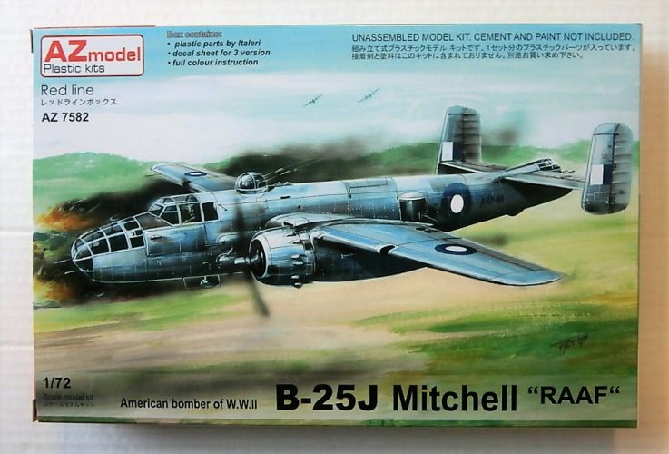 AZ MODEL 1/72 7582 NORTH AMERICAN B-25J MITCHELL RAAF